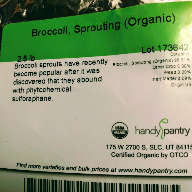 broccoli seed label